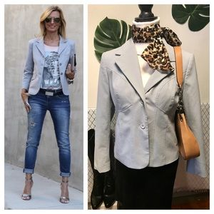 Worthington works light gray stretch blazer jacket
